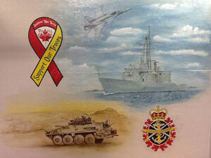 Glenpark Pet Hotel wears their pride in the military on the walls of their theme rooms.